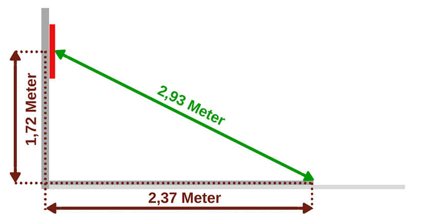 Dart Höhe Und Abstand